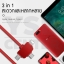 CAFELE สายชาร์จโทรศัพท์มือถือ 3 in 1 ไอโฟน แอนดรอยน์ Apple Lightning, Micro-USB to USB, Type-C to USB สายแบน ยืดหดได้ ปรับขนาดความยาวได้ 20-100 cm สายชาร์จมาการอง thumbnail 6