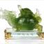 เต่าหัวมังกรมงคลหยกบนฐานแก้ว อายุวัฒนะอุดมทรัพย์ thumbnail 5