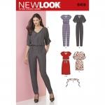 Pre-Order NewLook (6413) แพทเทิร์นตัดเสื้อผ้าสตรี