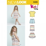 Pre-Order NewLook (6465) แพทเทิร์นตัดเสื้อผ้าเด็กหญิง