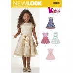 Pre-Order NewLook (6359) แพทเทิร์นตัดเสื้อผ้าเด็กหญิง