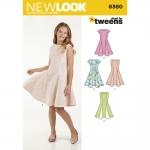 Pre-Order NewLook (6360) แพทเทิร์นตัดเสื้อผ้าเด็กหญิง