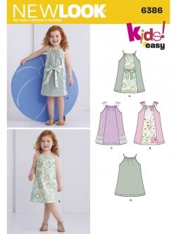 Pre-Order NewLook (6386) แพทเทิร์นตัดเสื้อผ้าเด็กหญิง