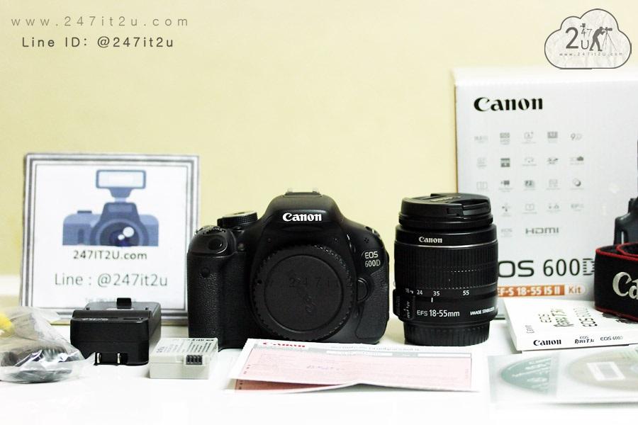 กล้อง Canon 600D +Lens 18-55mm f3 5-5 6 สีดำ