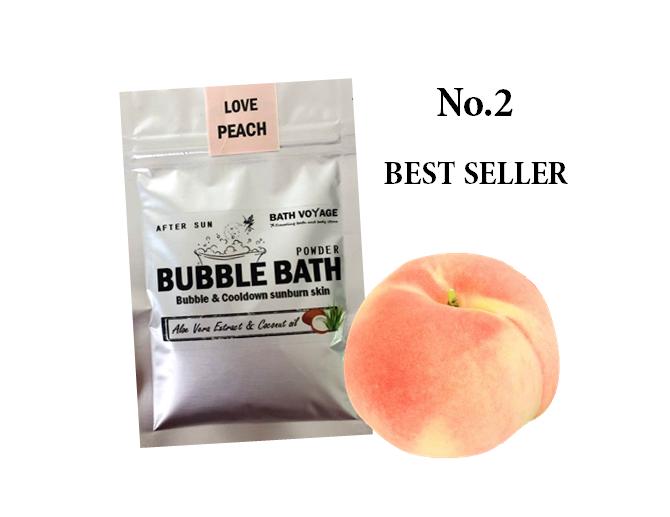 Peach After sun Bubble bath powder