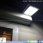 โคมไฟกำแพง โซล่าเซลล์ 16 LED พร้อม Motion Sensor