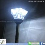 ไฟสนาม โซลาร์เซลล์ รุ่น หกเหลี่ยม 8 LED