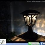 โคมไฟหัวเสา โซล่าเซลล์ ทรง Classic รุ่นพรีเมียม