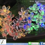 โคมไฟกระพริบ โซล่าเซลล์ ดอกไม้ หลากสี